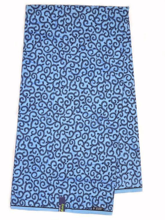 tissu africain bleu indigo