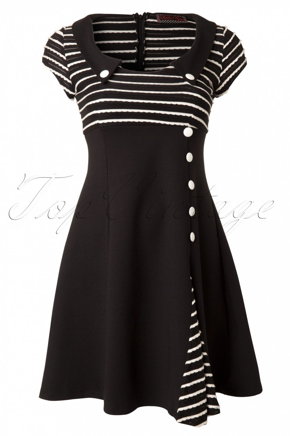 Vixen s oh so striped a line dress in black and white this is