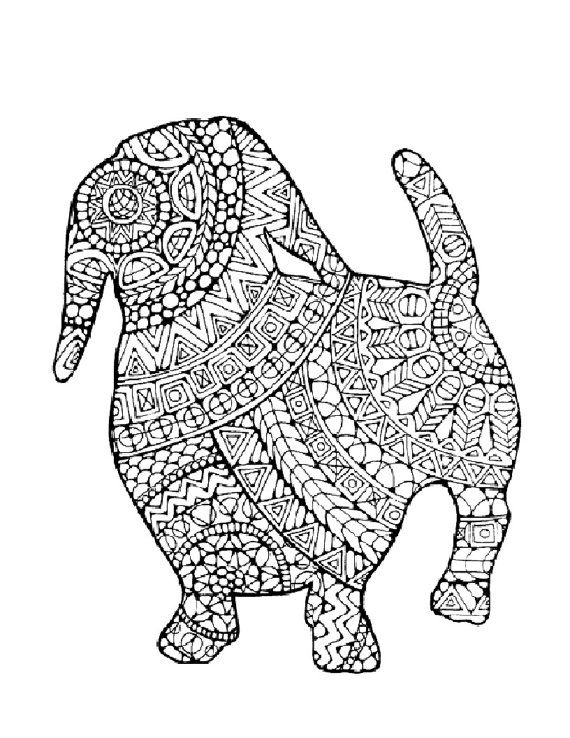 3 Adult Colouring Pages Original Hand By LittleShopTreasures