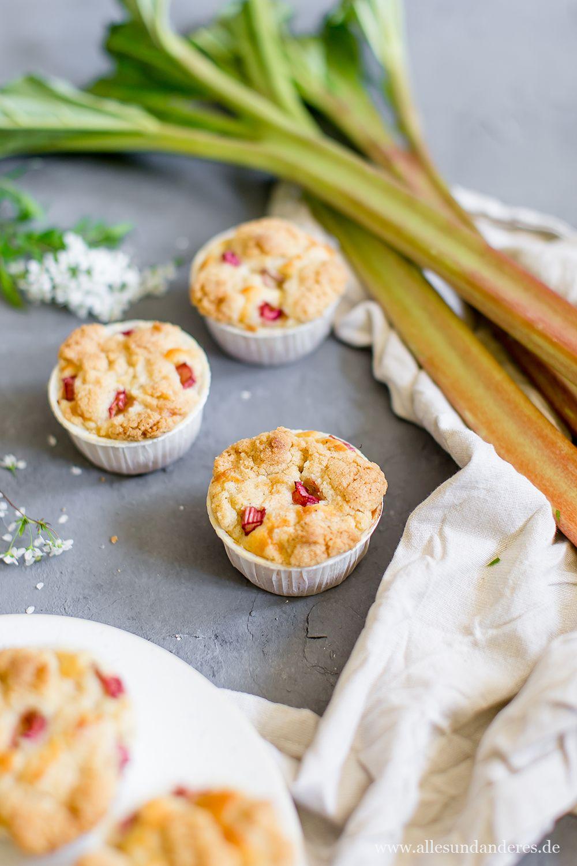einfache rhabarber muffins mit buttermilch und streuseln
