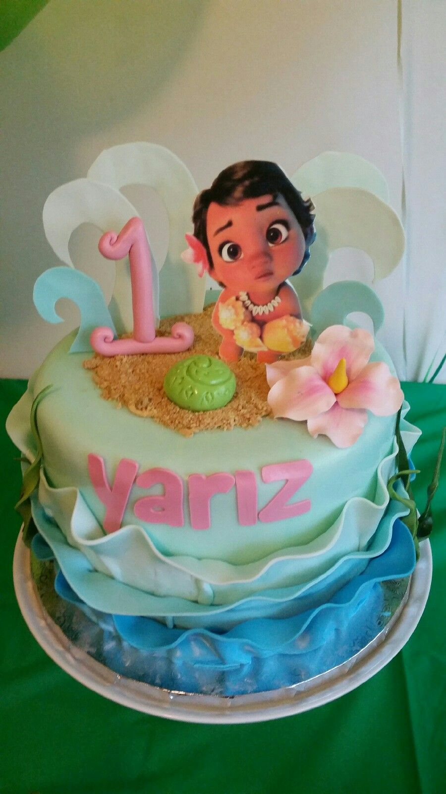 Moana Birthday Cake My Babies 1 Year Old Celebration 2017