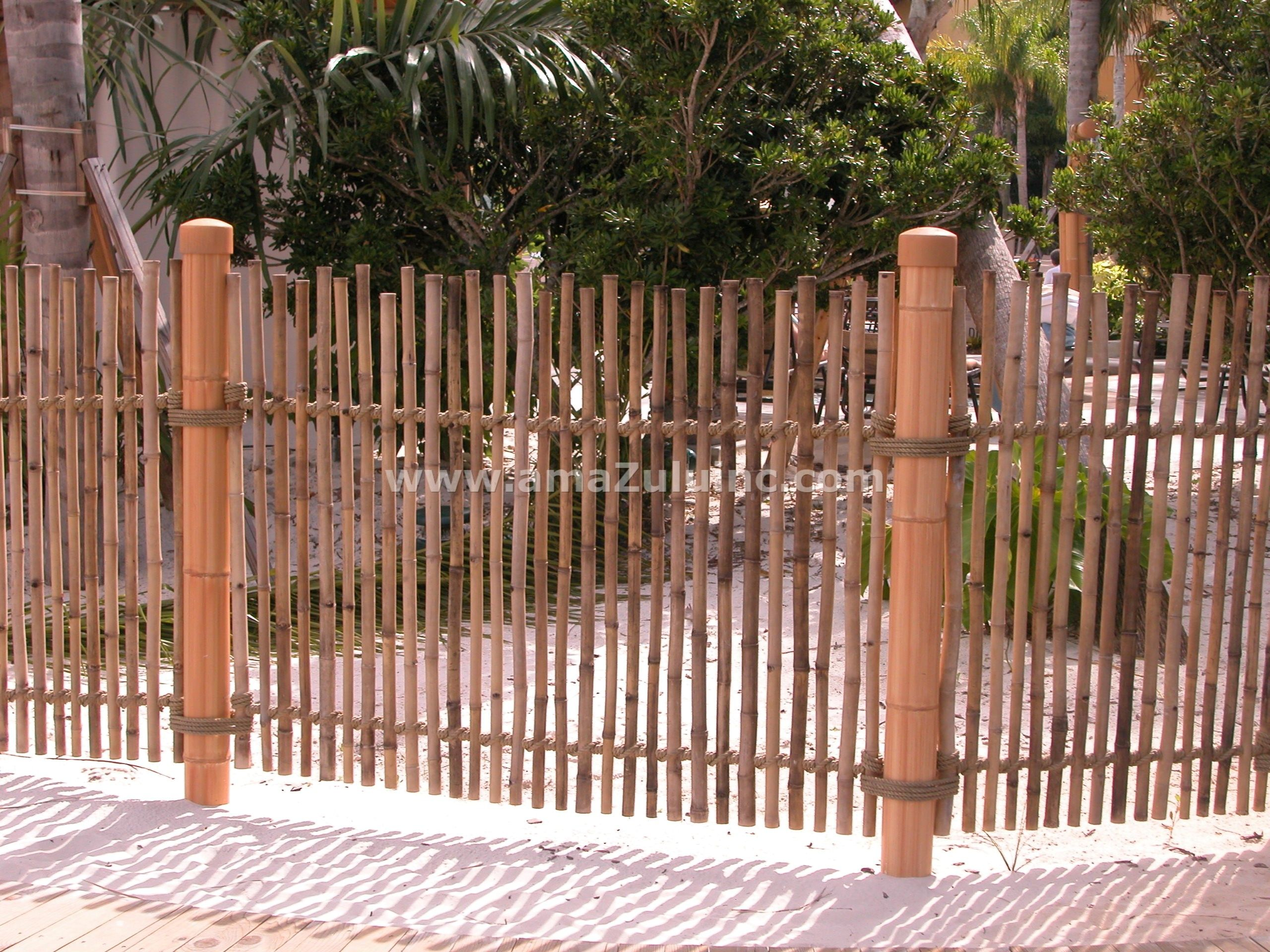 Rustic Bamboo Fencing at Universal from amaZulu Inc