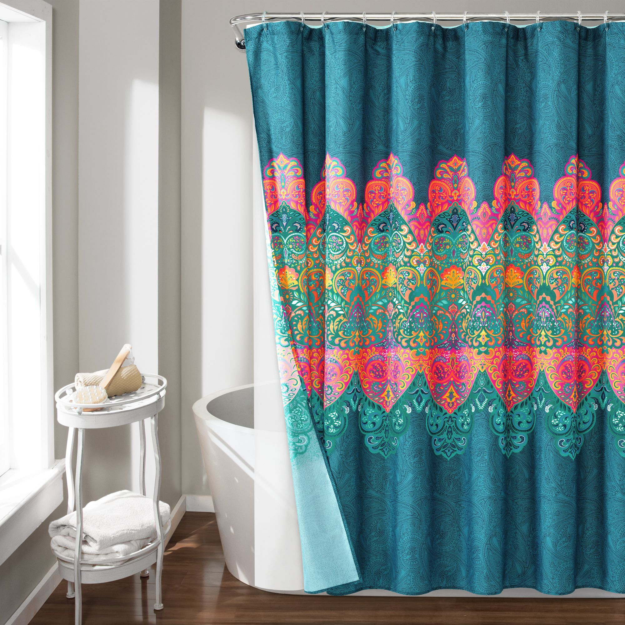 Boho Chic Shower Curtain 14 Piece Complete Set Boho Shower