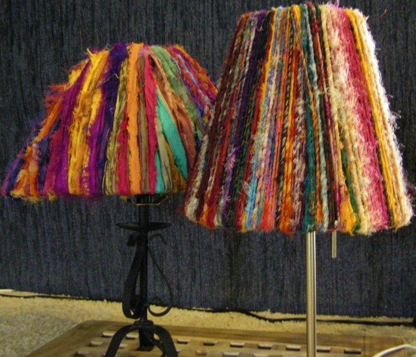 High Quality Sari Ribbon Lamp Shade 003 Pictures
