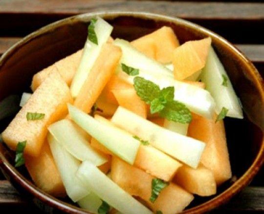 Cucumber And Melon Salad With Fresh mint – Cucumber Salad Recipe ...
