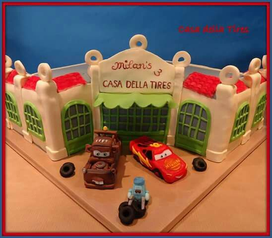 Cars cake: Casa Della Tires 3D