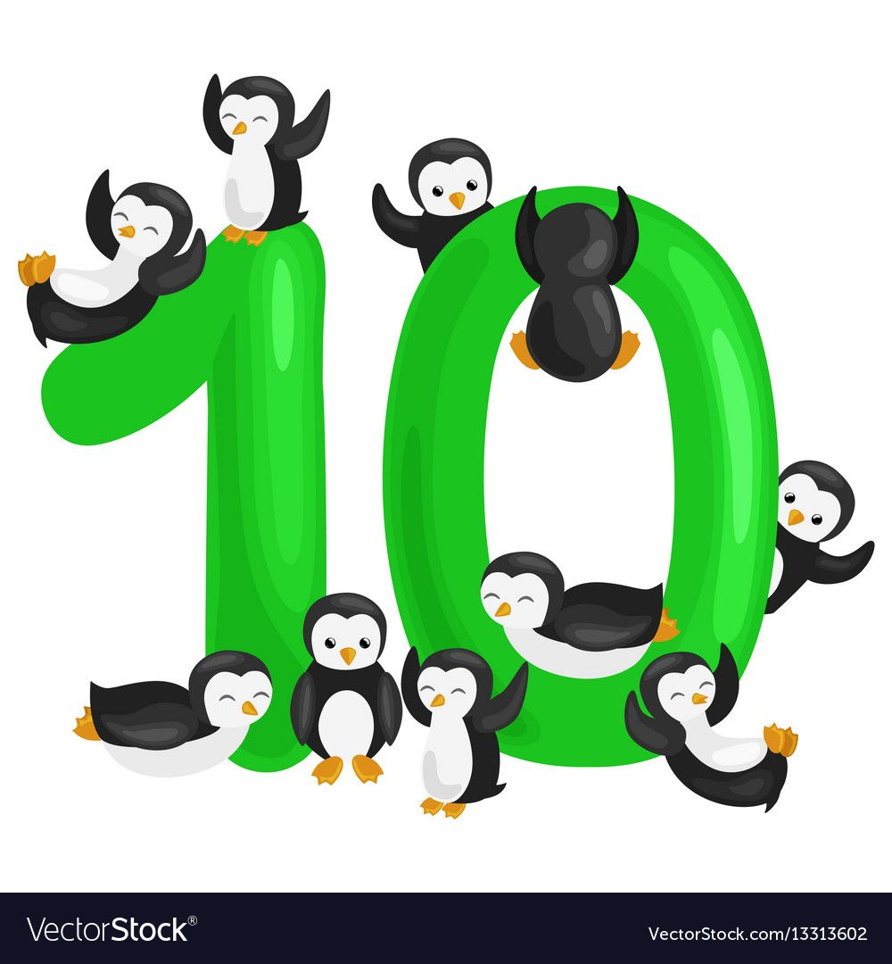 Ordinal Number 10 For Teaching Children Counting Vector Image On