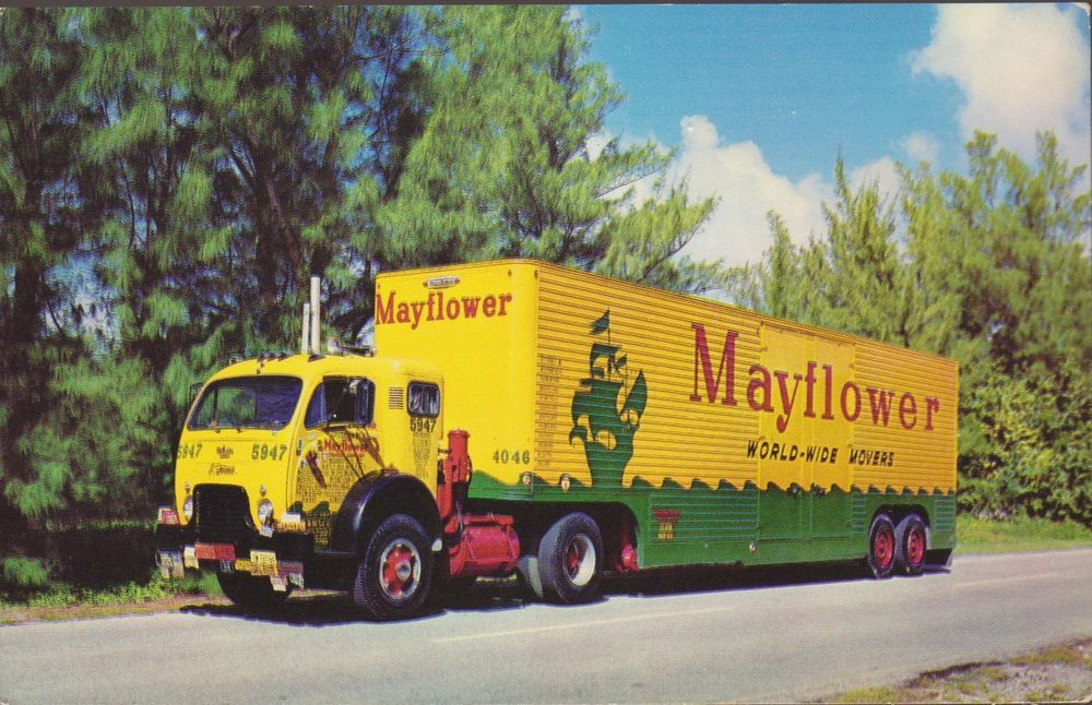 Mayflower Moving Truck Fort Myers Florida Postcard 1002 With