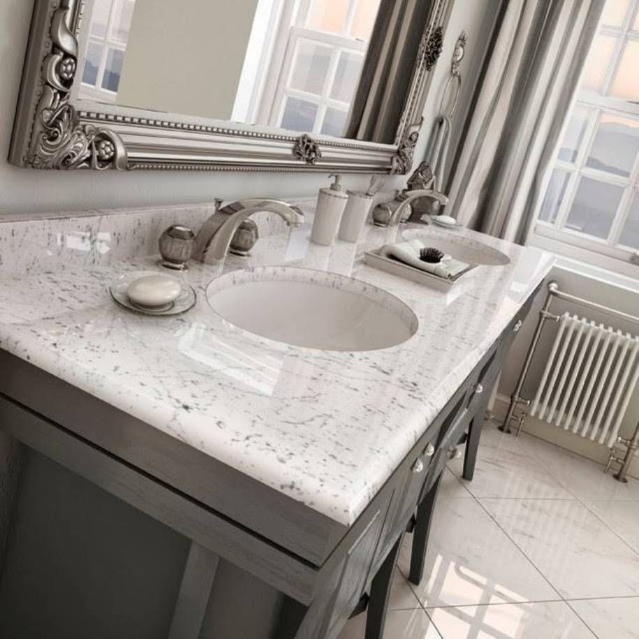 Beau Bathroom , Bathroom Marble Vanity Tops : Carrara Marble Vanity Tops With  Grey Cabinets