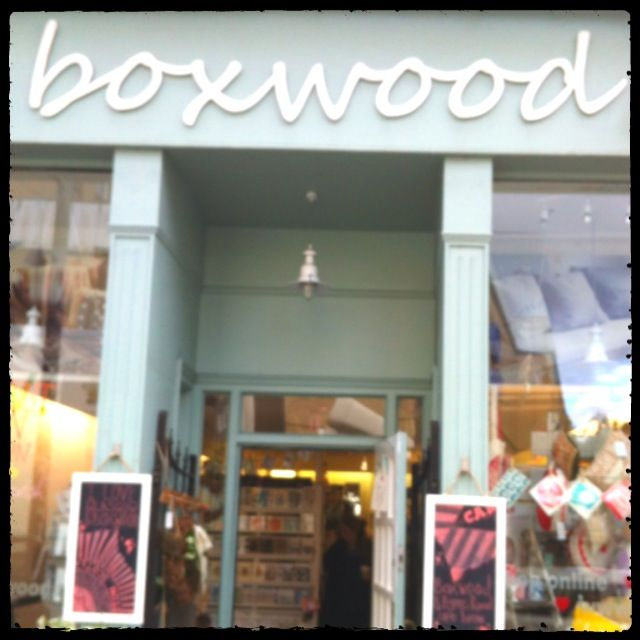 Boxwood on Glasgow's Byres Road. They stock a range of my cards and prints.