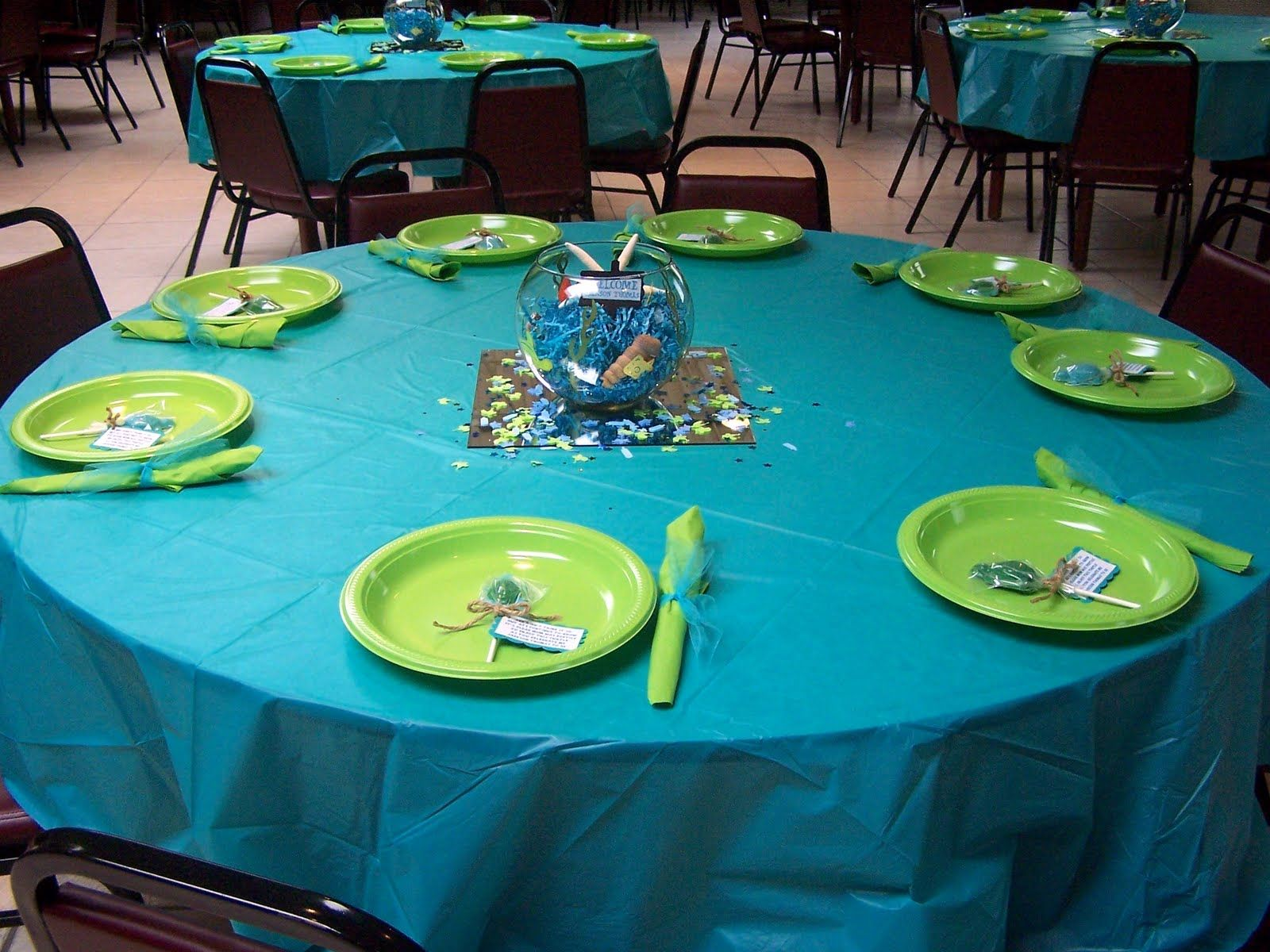 Baby shower table decoration ideas - Turtle Baby Shower Centerpieces Centerpiece For The Table These Glass Bowls Were Used For