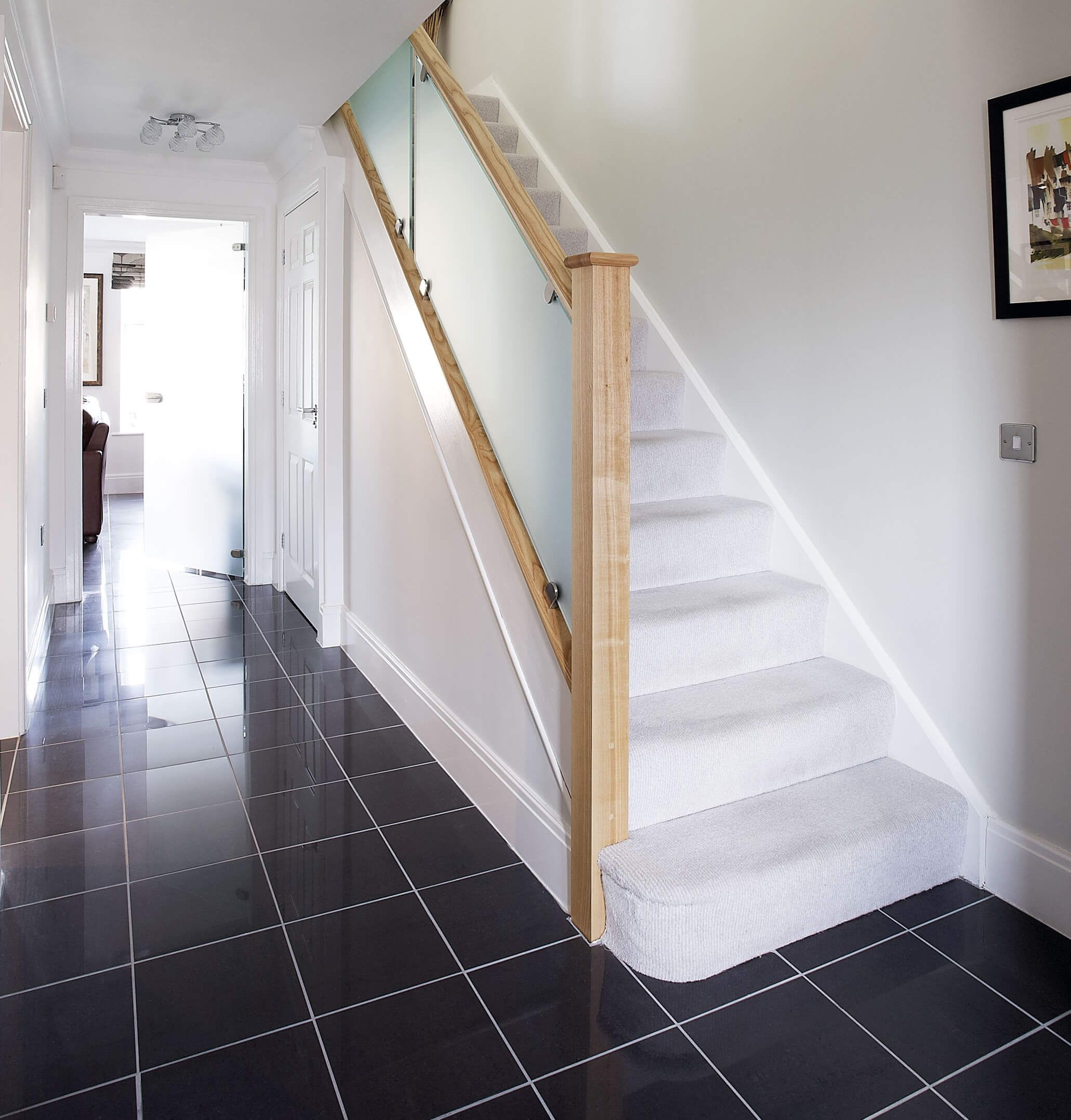 Best Frosted Glass Staircase Bespoke Staircases Glass Stairs 400 x 300