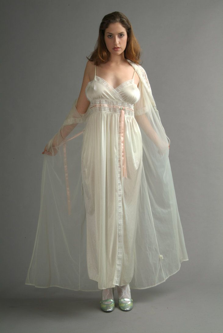 sheer in Mature nightgowns women