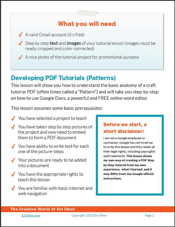 How to Format a PDF Tutorial using Google Docs an Ebook