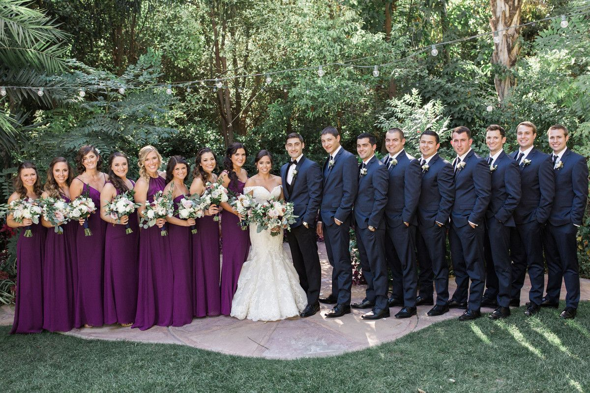 Christine And Robert S Wedding In Moorpark California Blue Wedding Dresses Wedding Bridesmaids Purple Bridesmaids [ 800 x 1200 Pixel ]