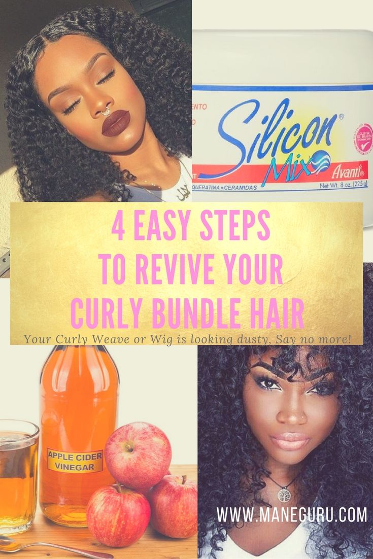 Your curly bundle hair looking dusty hereus easy steps to revive