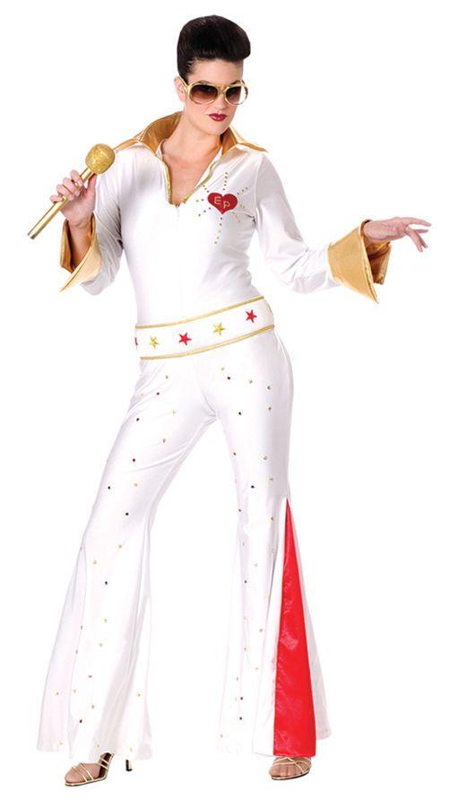 b7a3e4120f5 Elvis Female Jumpsuit Women s Halloween Costume