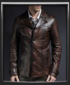 Mens Gents BLACK 5 Button Vintage Designer Fashion Party Nappa Leather Waistcoat