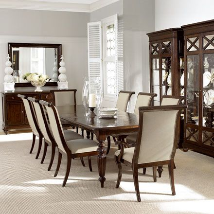 Bernhardt At Hinson Galleries Inc Somerset Hill Collection Table And Chair SetsDining Room