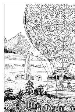 Coloriage adulte paysage art therapie pinterest - Mandala paysage ...