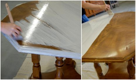Simple How to white wash/antique your furniture! Muebles viejos - muebles en madera modernos