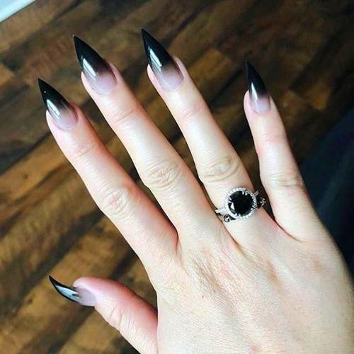 Halloween Nails Goth Nails Witch Nails Skull Nails