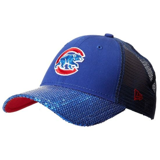 Chicago Cubs Sequin Vize 9FORTY Adjustable Hat by New Era | SportsWorldChicago.com  #ChicagoCubs @CubsBaseball