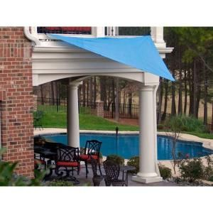 King Canopy, 10 ft  x 10 ft  Blue Triangle Sun Shade Sail