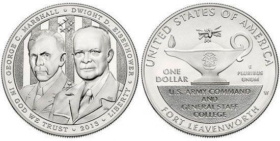 2013-D 5-Star Generals Commemorative UNCIRCULATED Clad Half Dollar w// COA /& BOX