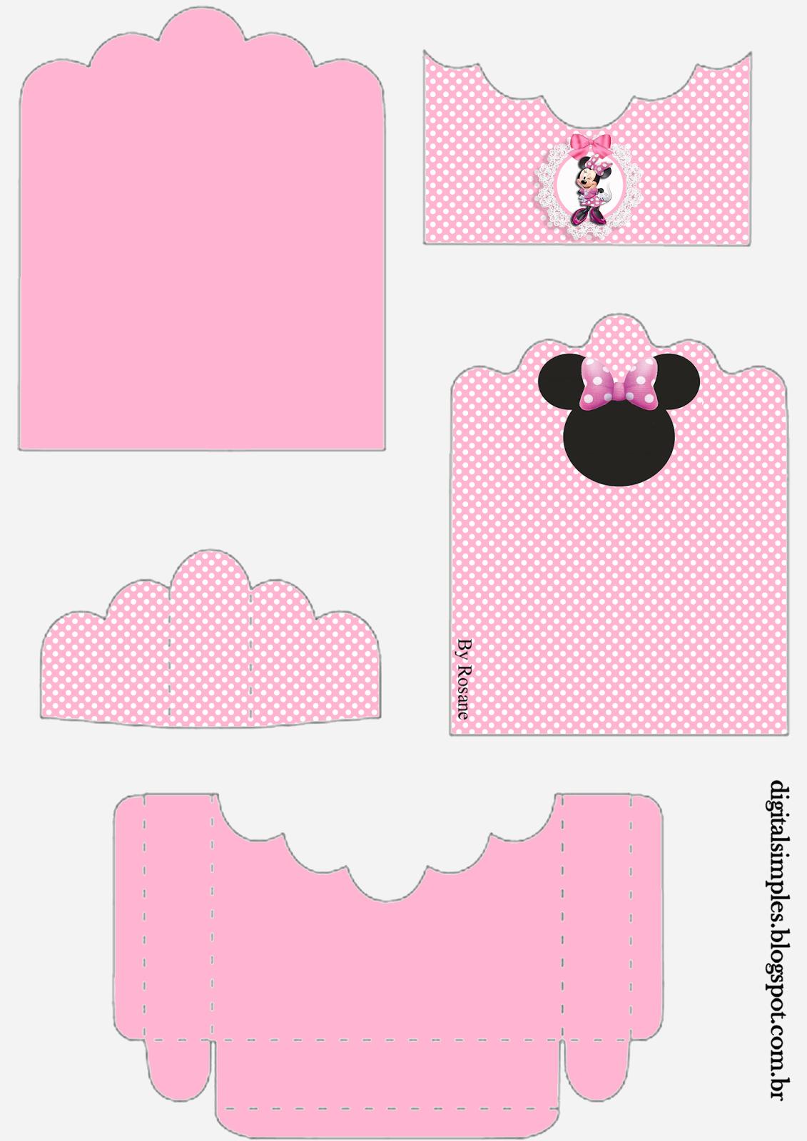Minnie rosa soporte para golosinas para imprimir gratis - Candy candy diva futura ...