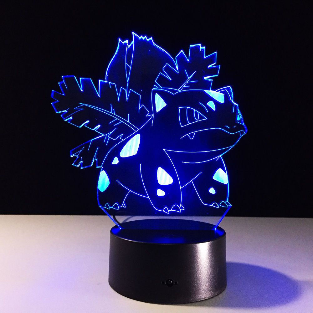 anime pok mon bulbasaur pokemon desk light decorative 3d acrylic led table lamp desk lamp. Black Bedroom Furniture Sets. Home Design Ideas