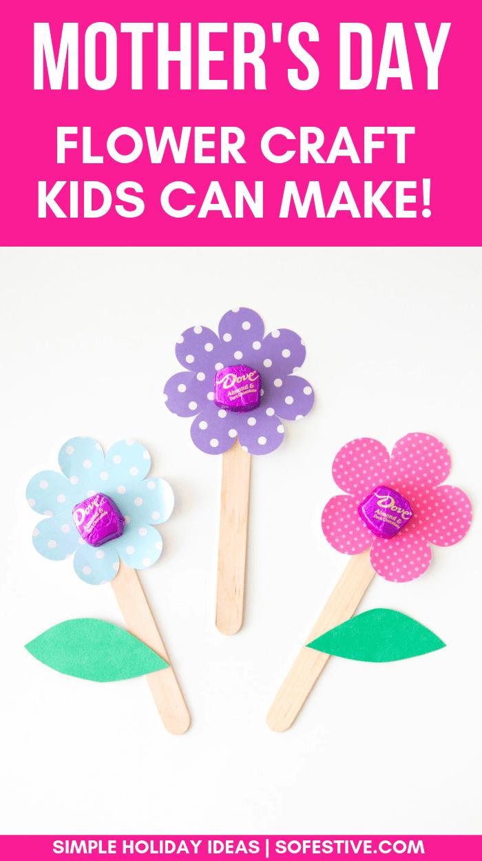 Flower Craft Gift Idea Easy Tutorial For Kids So Festive