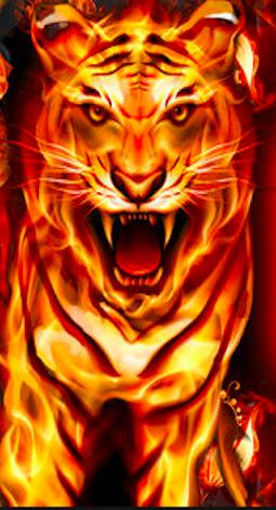 Roar Fire Tiger Wallpaper Tiger wallpaper, Cute emoji