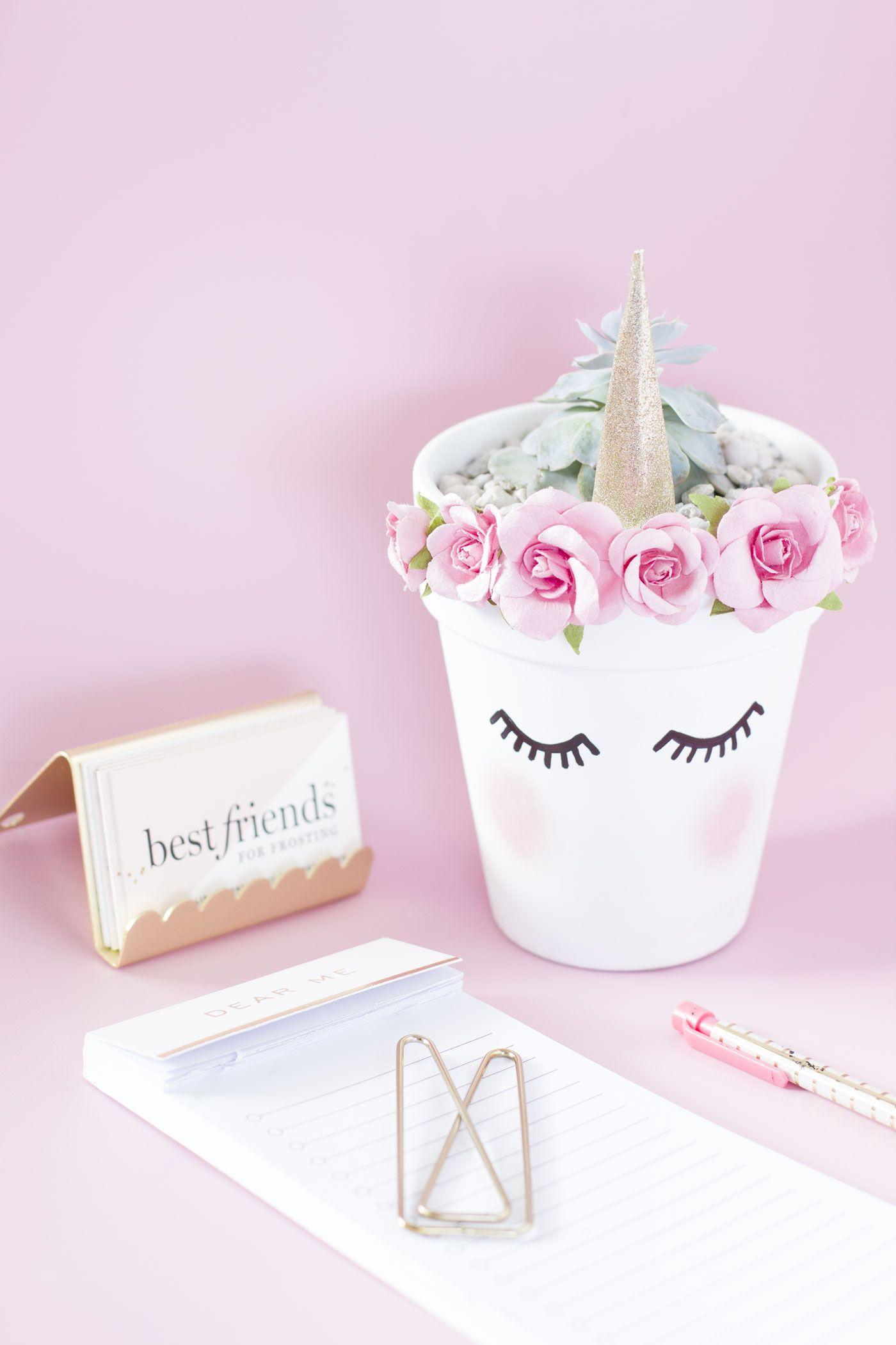 Diy unicorn planter quiero unicornios y unicornio - Blog de manualidades y decoracion ...
