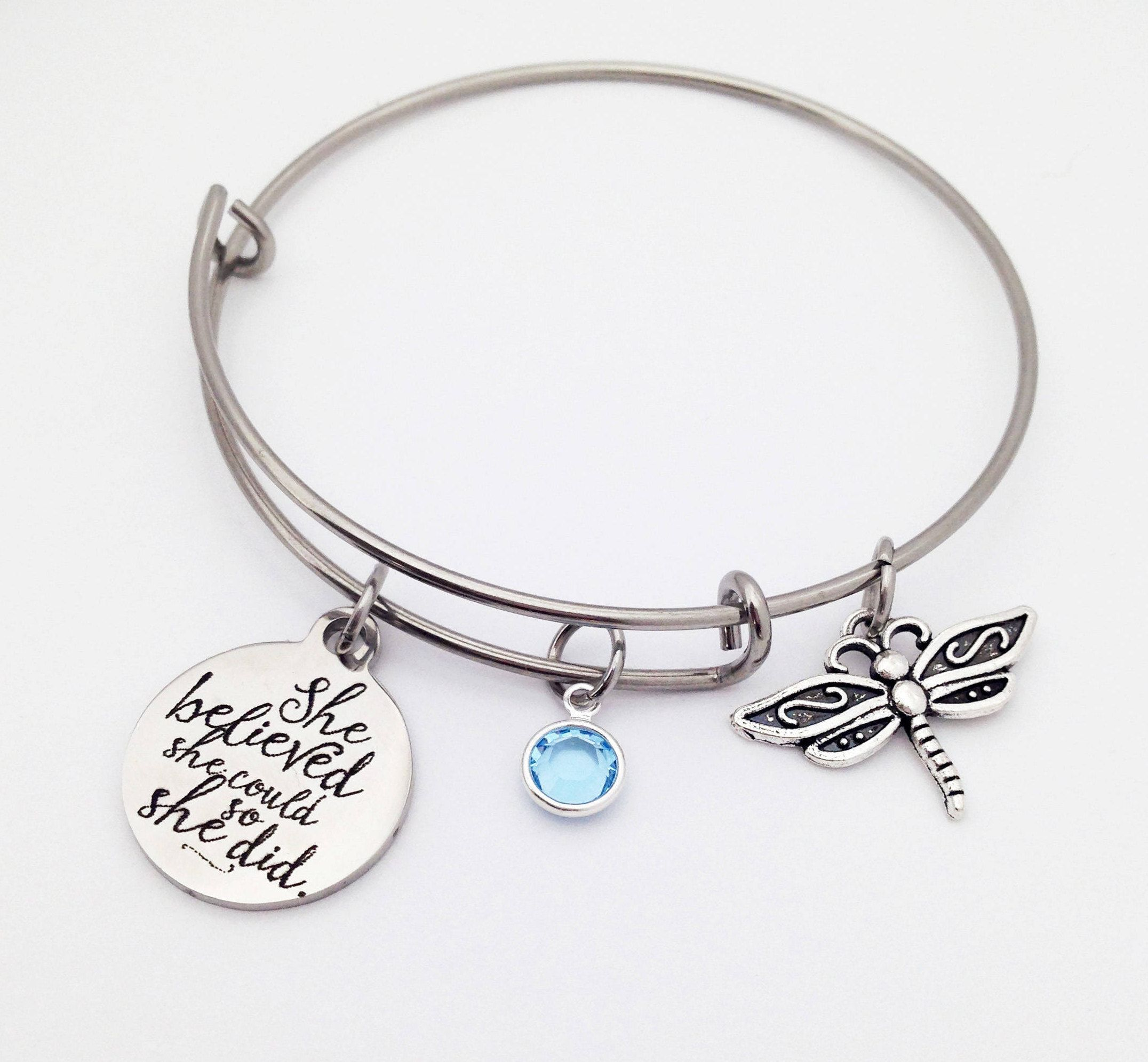 Best Christmas Gifts For Her 2020 Jewelry Graduation Gift for Her, Dragonfly Bracelet, Dragonfly Jewelry