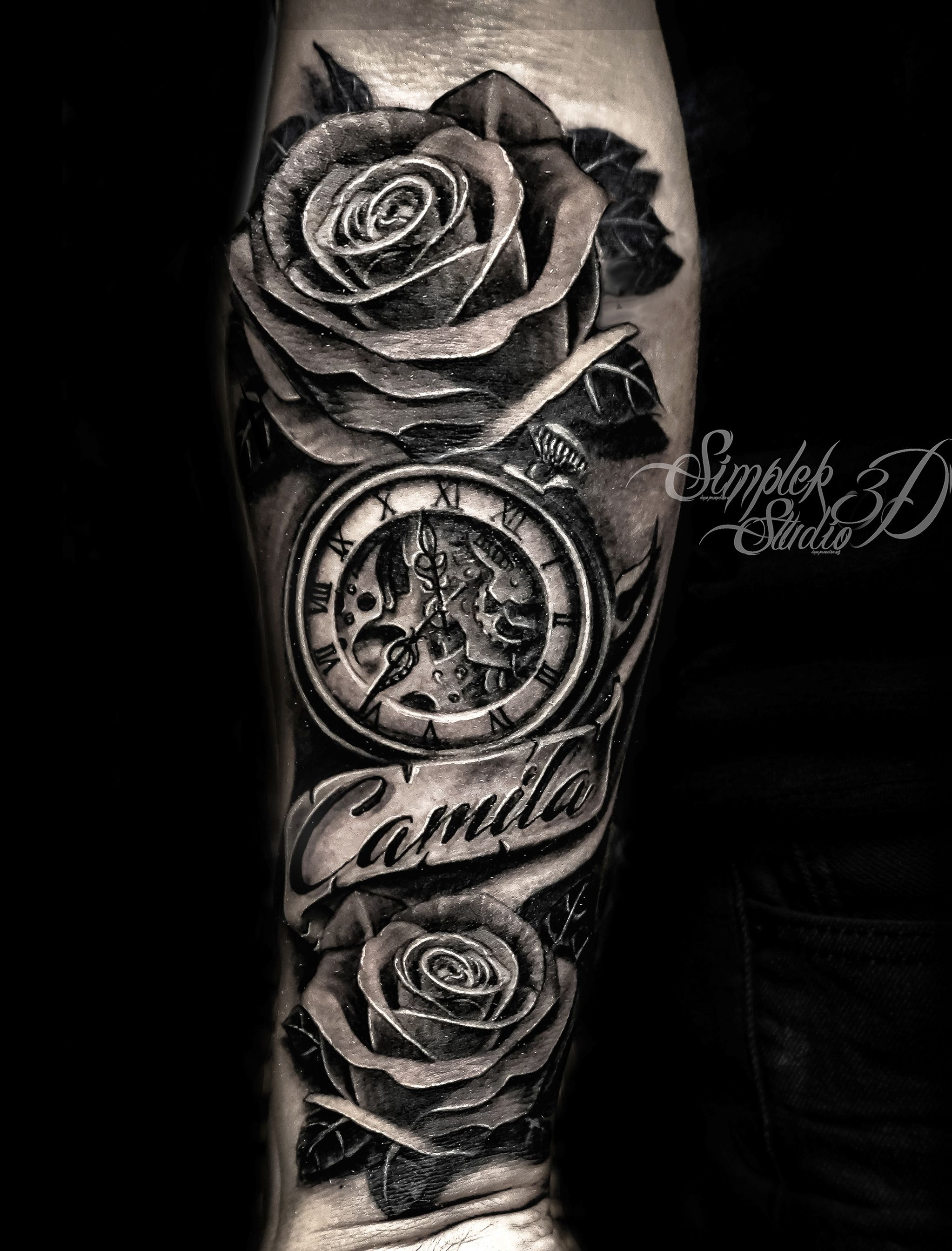 Black and grey tattoo i completed in 1 session i work in