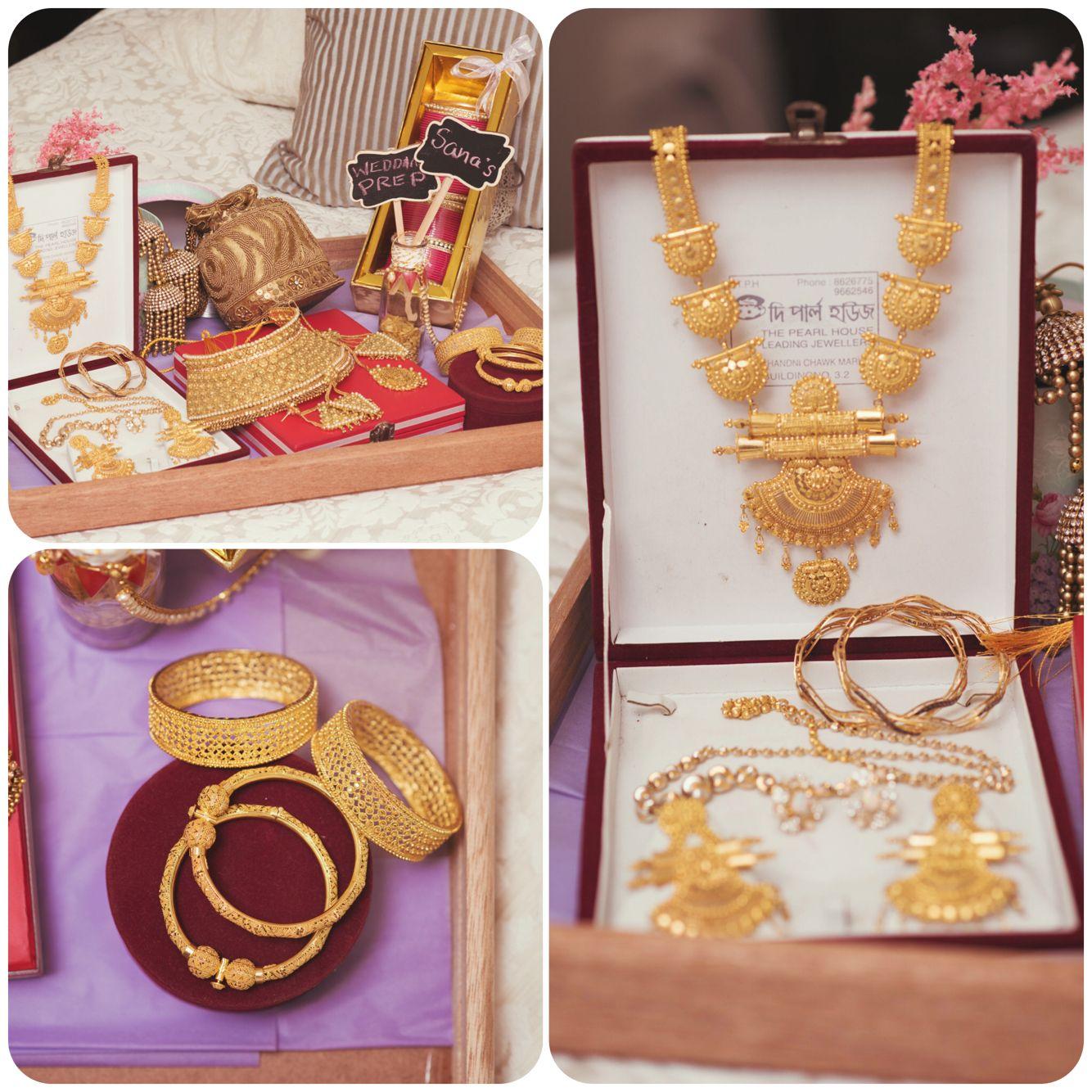 Indian bridal Jewelry prep