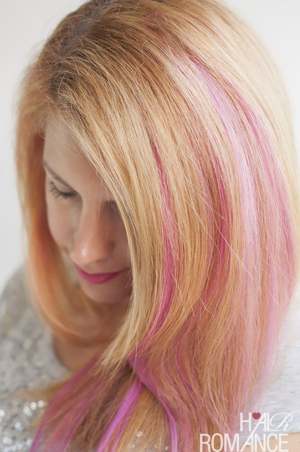 How To Diy Pink Highlights In Your Hair Hair Make Up Pinterest