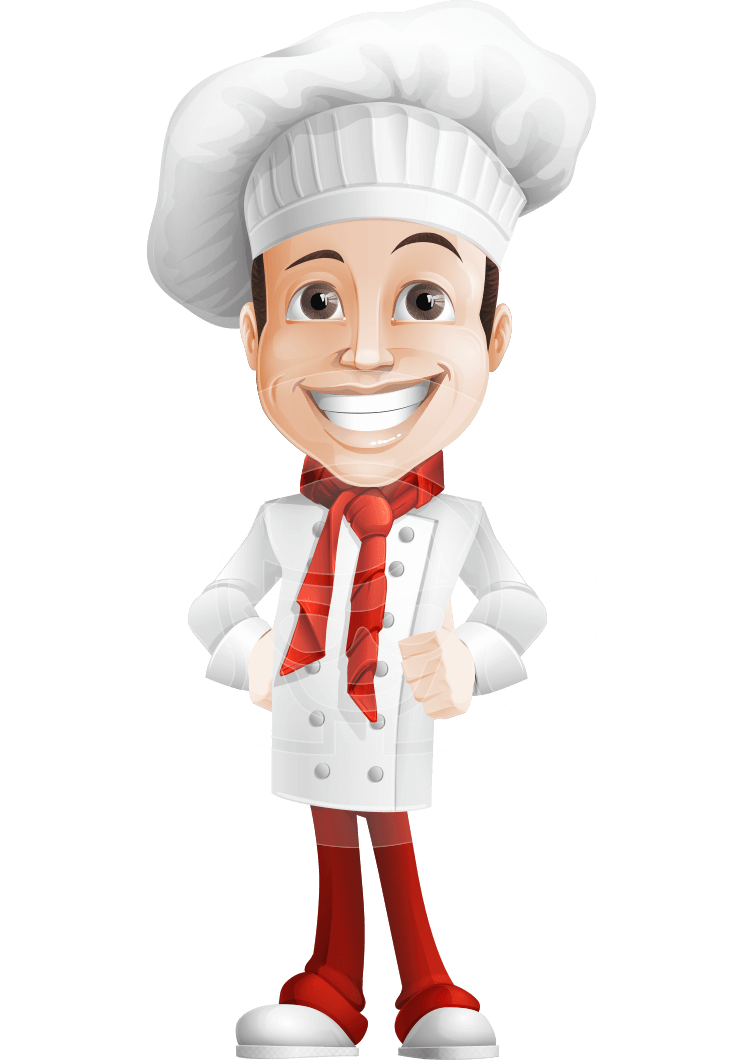 Cartoon Character Design Vector : Basilio the chef artist when it comes to design bakery