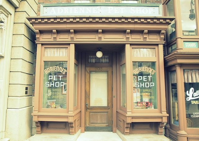 Pet Shop With Vintage Wooden Storefront In Vancouver