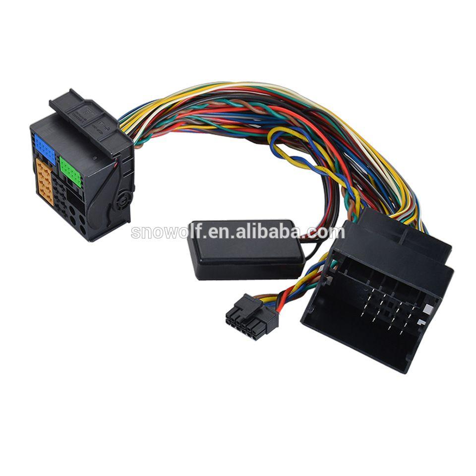 car automobile ISO radio plug connector adaptor wire loom cable ...