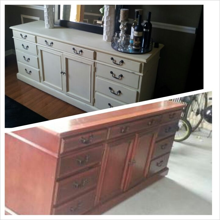Purchased An Old Office Credenza And Turned It Into A Buffet In Our Dining Room