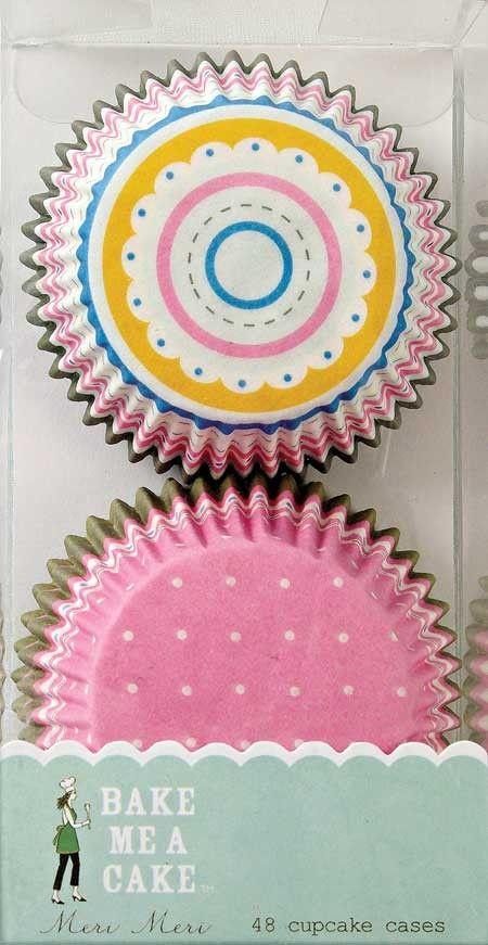 Meri Meri Pink Stripe Baking Cups 48ct For 3 83 In Cupcake