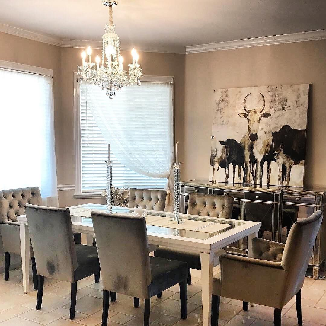 Rustic Glam Dining Room Makeover Ideas