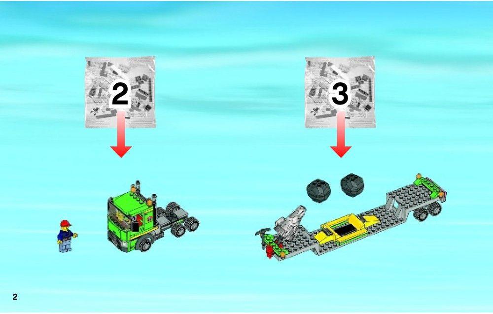 City Excavator Transporter Lego 4203 Lego Lego Instructions Lego City Sets