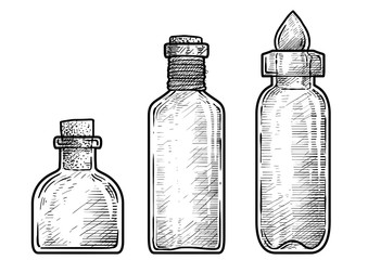 Stock Photos Royalty Free Images Graphics Vectors Videos Bottle Drawing Drawings Line Art