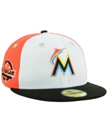 best website 6eabb f7653 New Era Boys  Miami Marlins All Star Game w Patch 59FIFTY Fitted Cap - Black  6 3 4