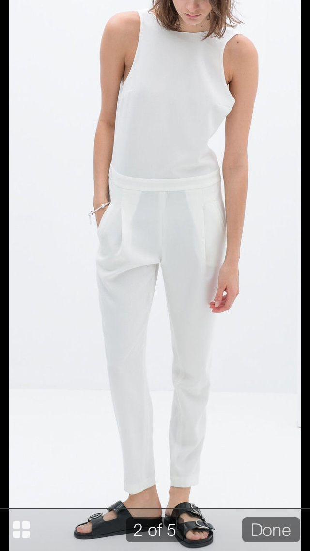 ca5b51f6ea9 All white Backless jumpsuit. Zara. So Fetch