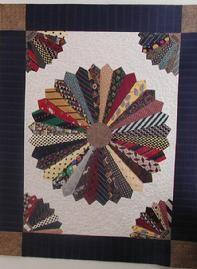 Dresden Plate, Silk Ties, T Shirt Quilt, T-Shirt Quilt, Keepsake ... : tied quilt patterns - Adamdwight.com