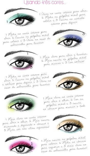 Maquiagem - sombras - três cores